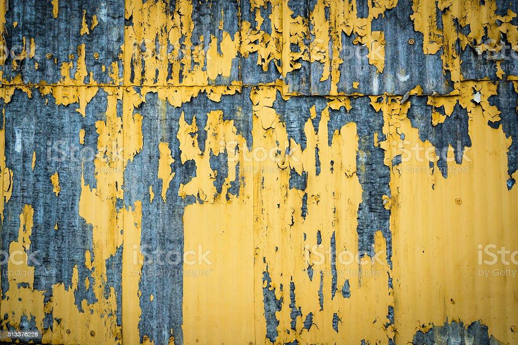 Damaged Corrugated Surface Background stock photo