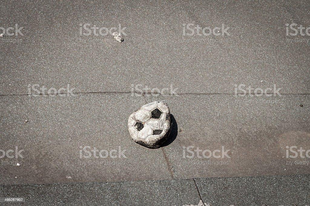 Beschädigte Football – Foto