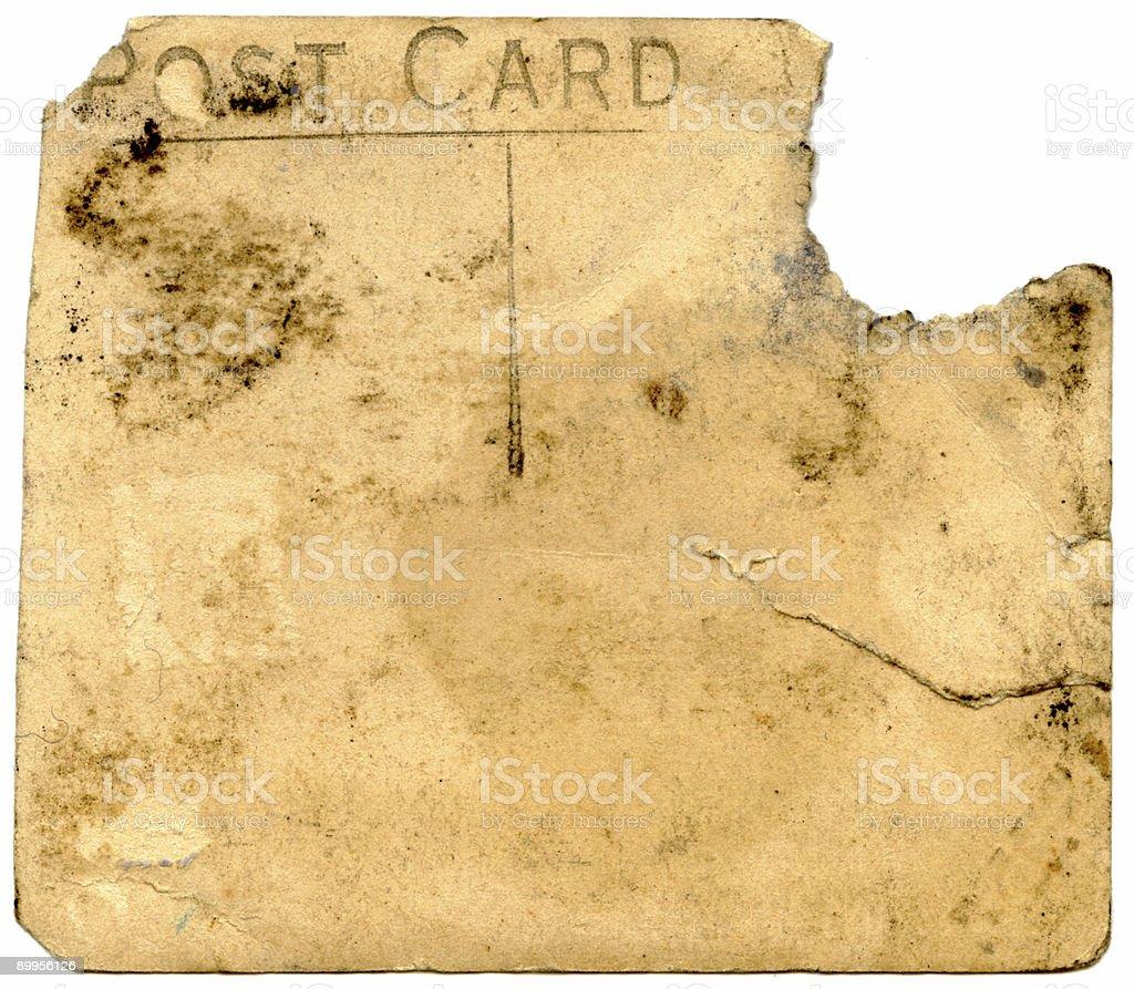 Damaged grungy postcard royalty-free stock photo