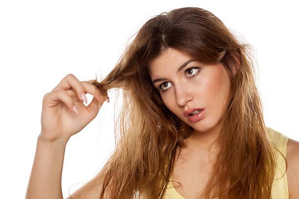 damaged  hair - kabarık saç stok fotoğraflar ve resimler