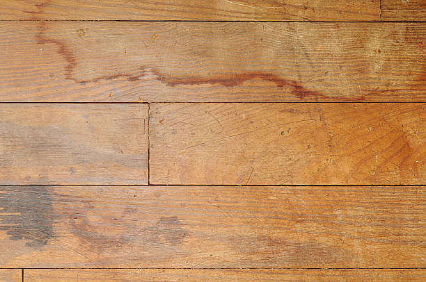 Damaged Hardwood Floor stock photo
