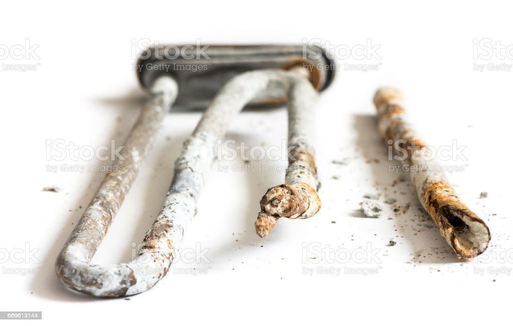 Damaged Heating Element of the Washing Machine stock photo