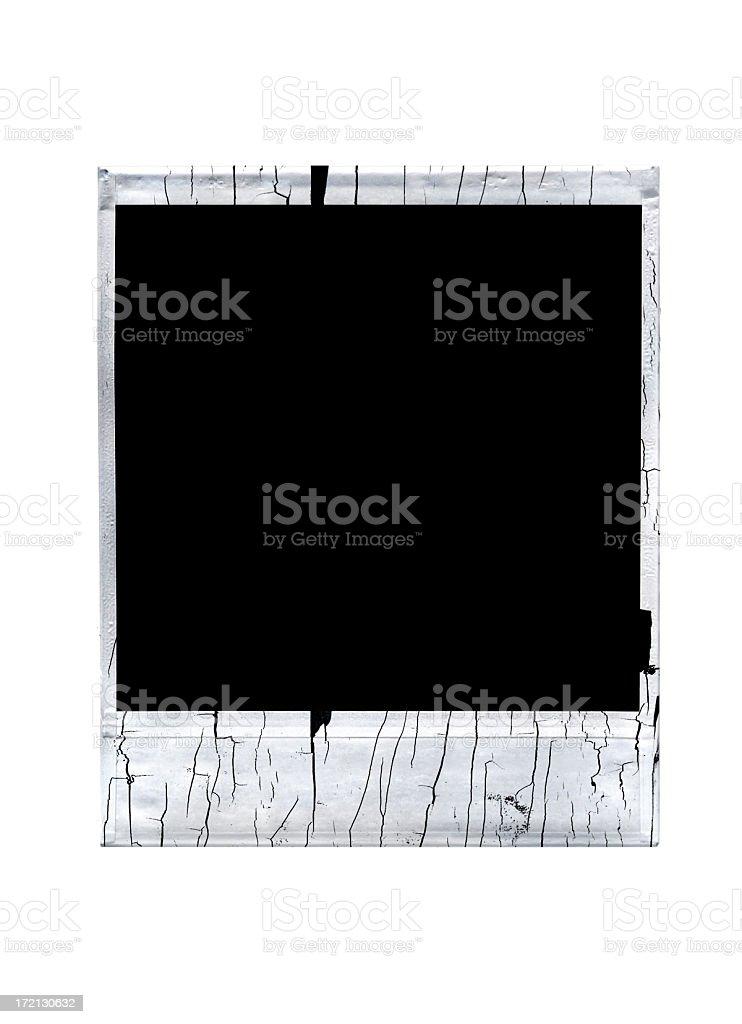 Damaged Instant Film royalty-free stock photo