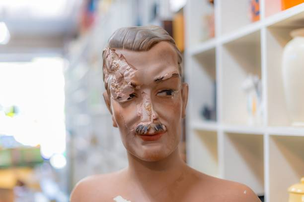 damaged mannequin - swashbuckler stock photos and pictures