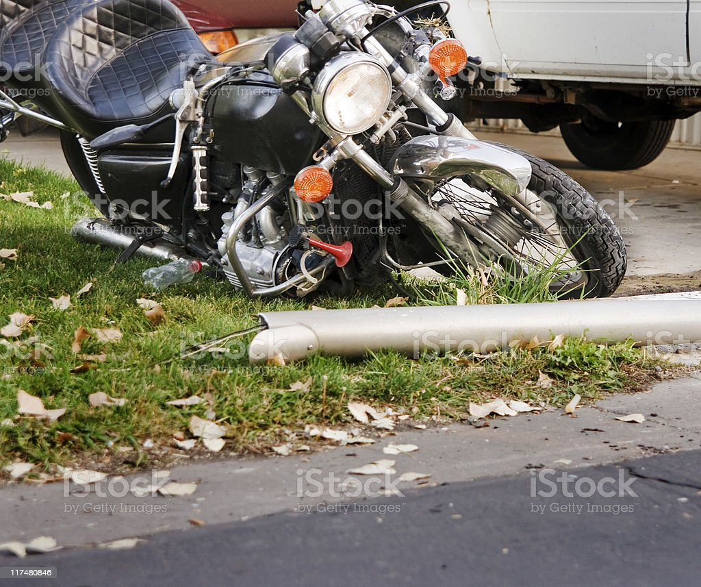 Damaged Motorcycle royalty-free stock photo