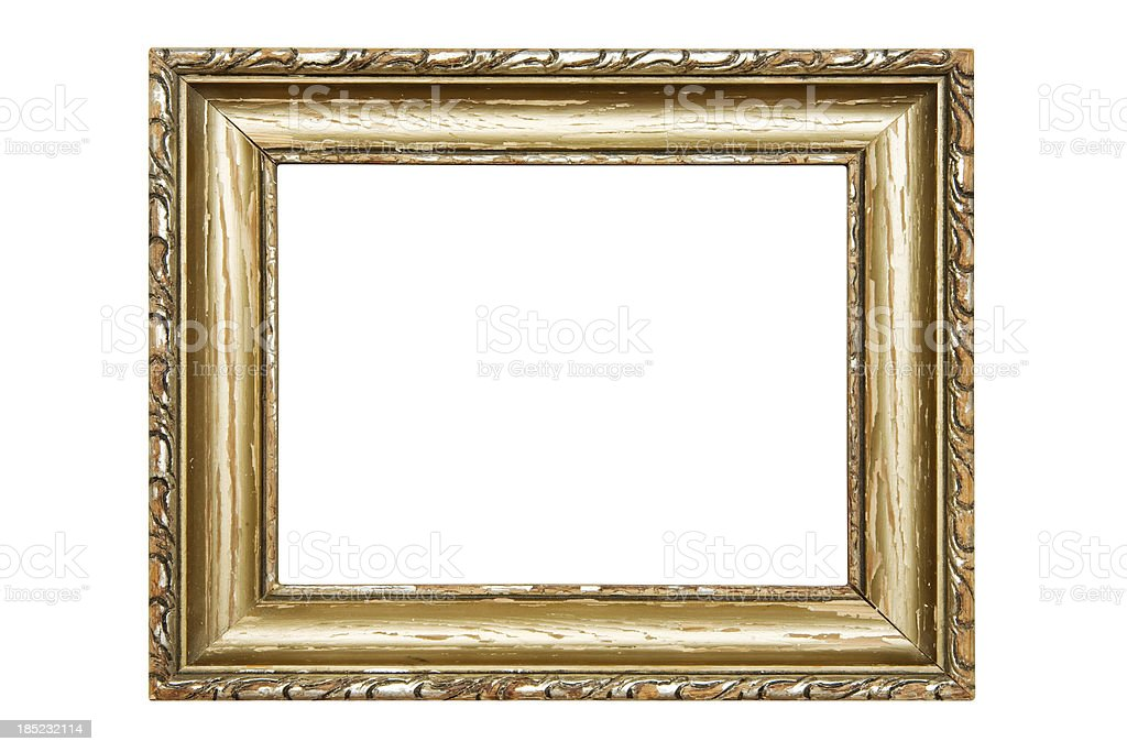 Damaged Old Picture Frame (Clipping Path Included) royalty-free stock photo