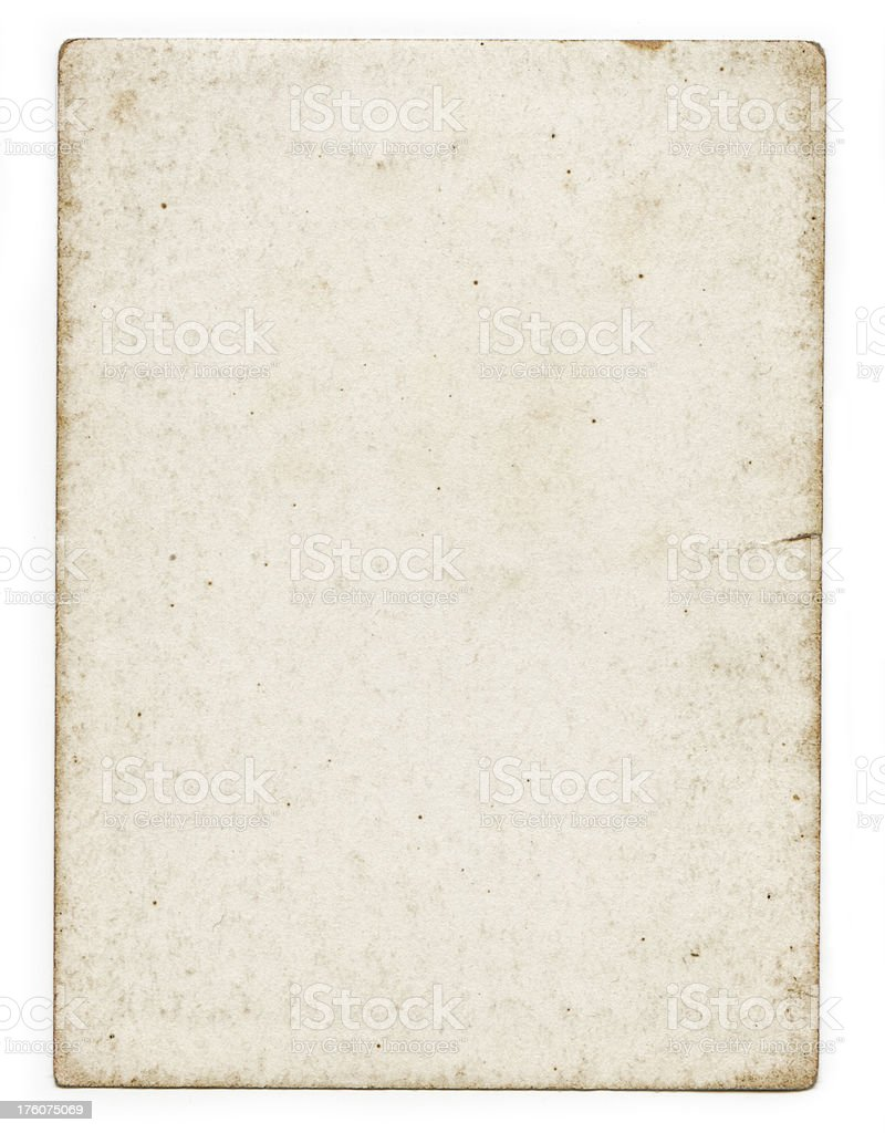 Damaged Old Vintage White Paper Background royalty-free stock photo