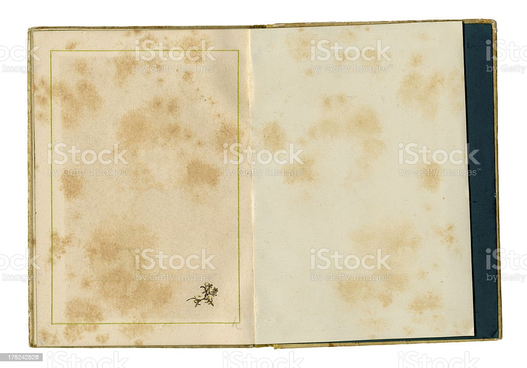 Damaged open book royalty-free stock photo