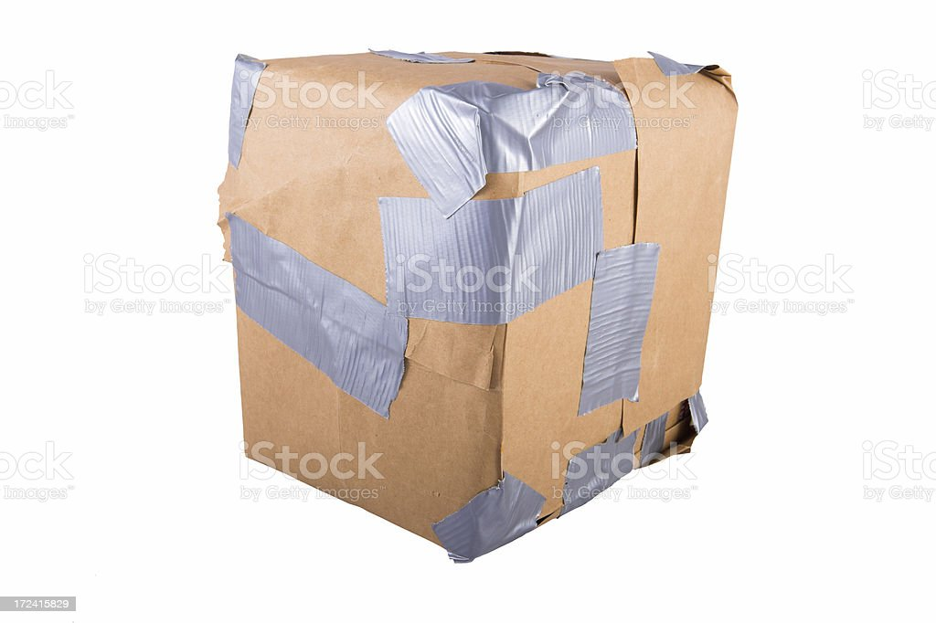Damaged Package royalty-free stock photo