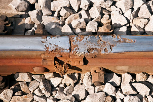damaged railway track - derail bildbanksfoton och bilder