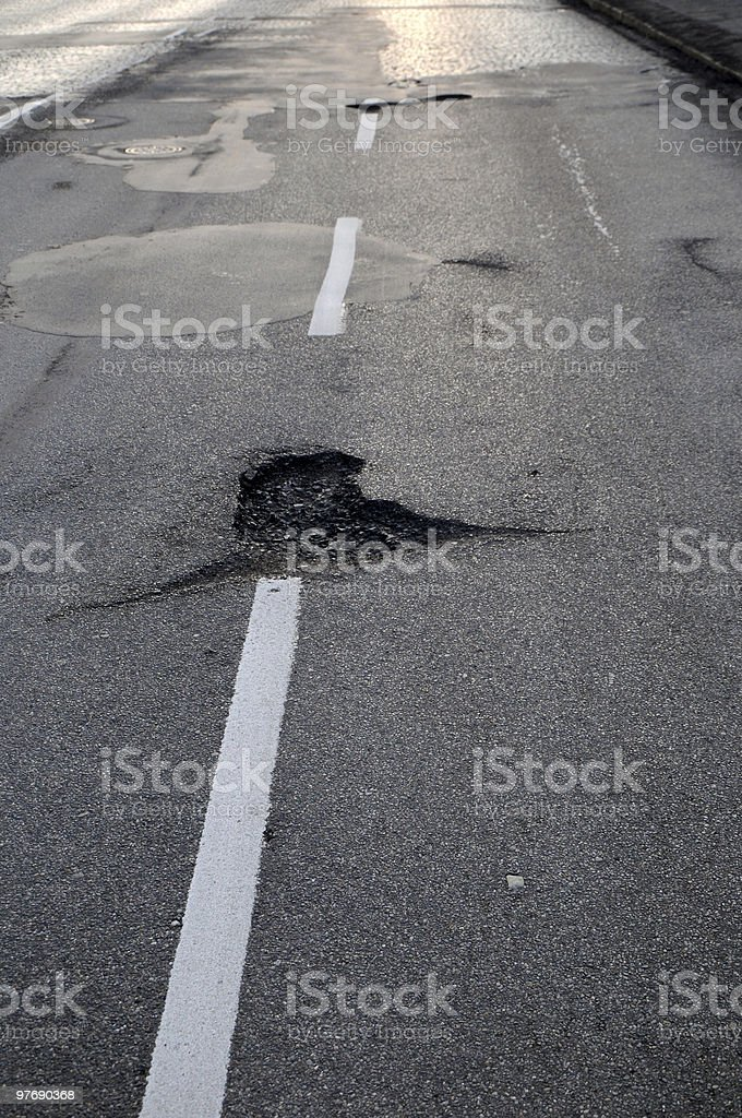 Damaged road royalty-free stock photo