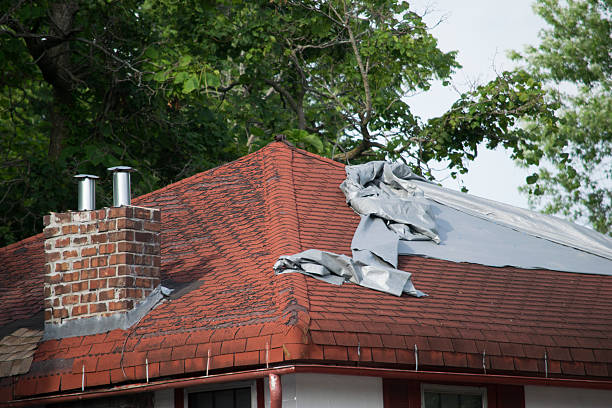 damaged roof shingles - dept stock pictures, royalty-free photos & images