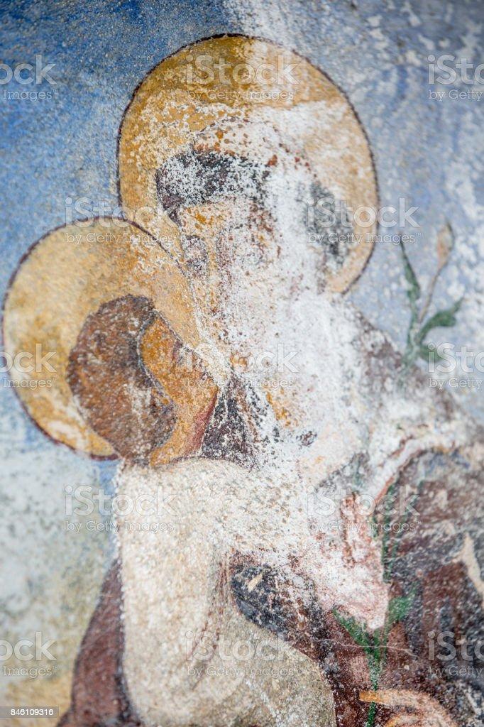 Damaged Sacral Fresco stock photo