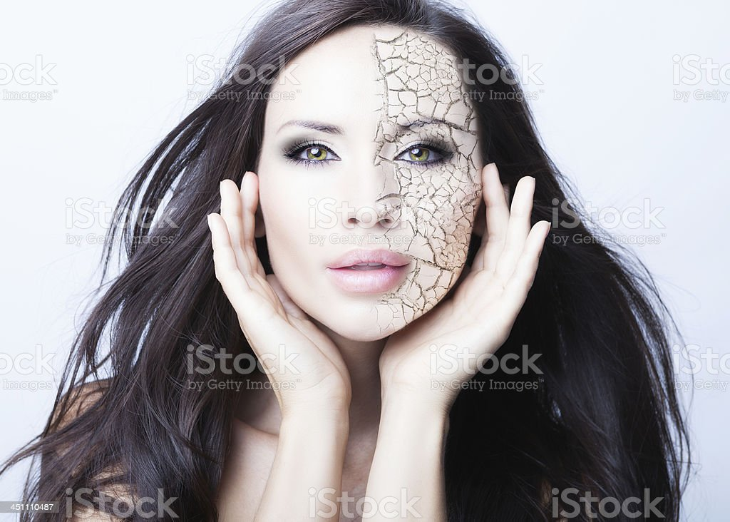 damaged skin stock photo