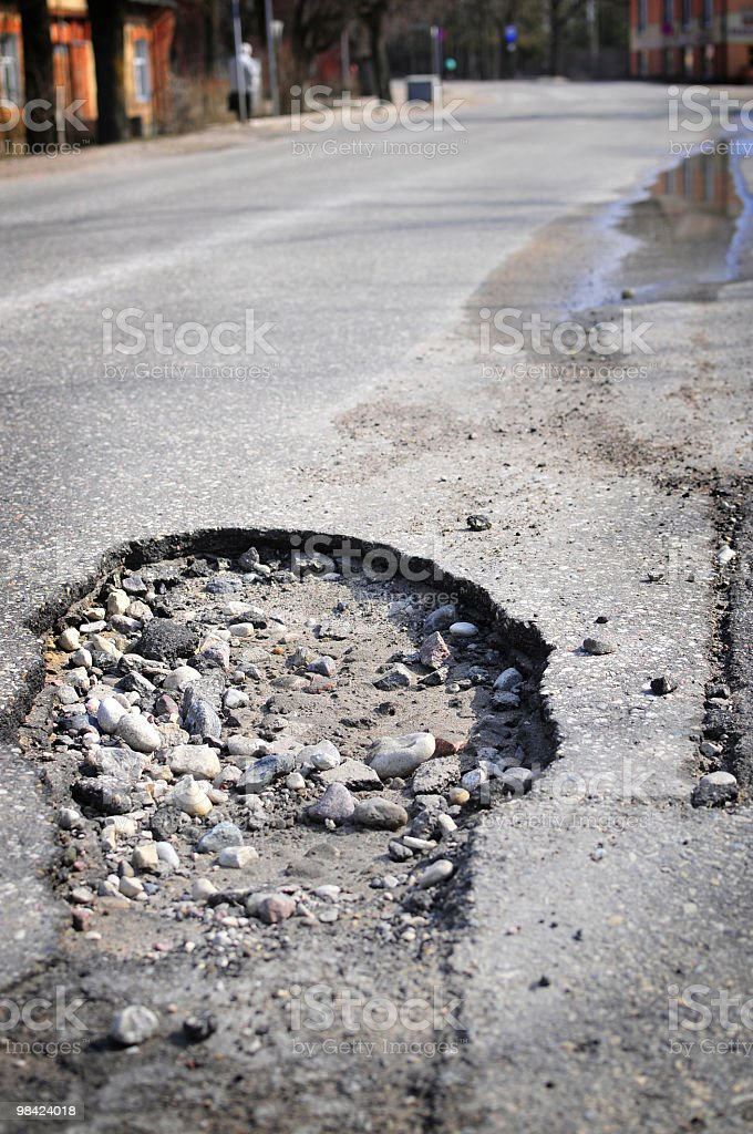 Damaged street royalty-free stock photo