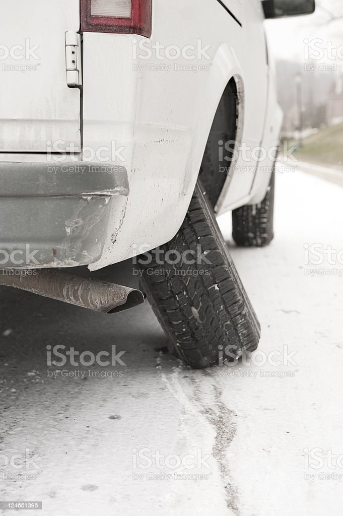 Damaged Van royalty-free stock photo