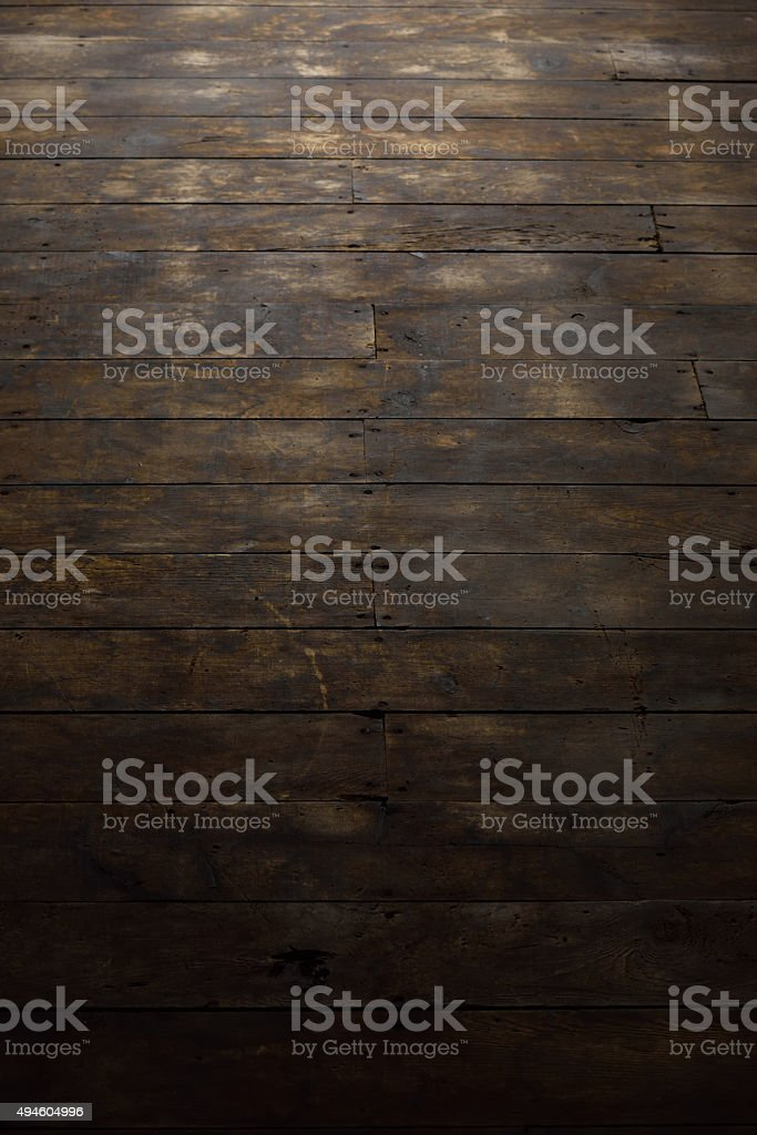 Damaged Wood Flooring Features stock photo