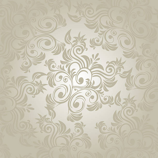 damask floral pattern wallpaper - watermark stock photos and pictures