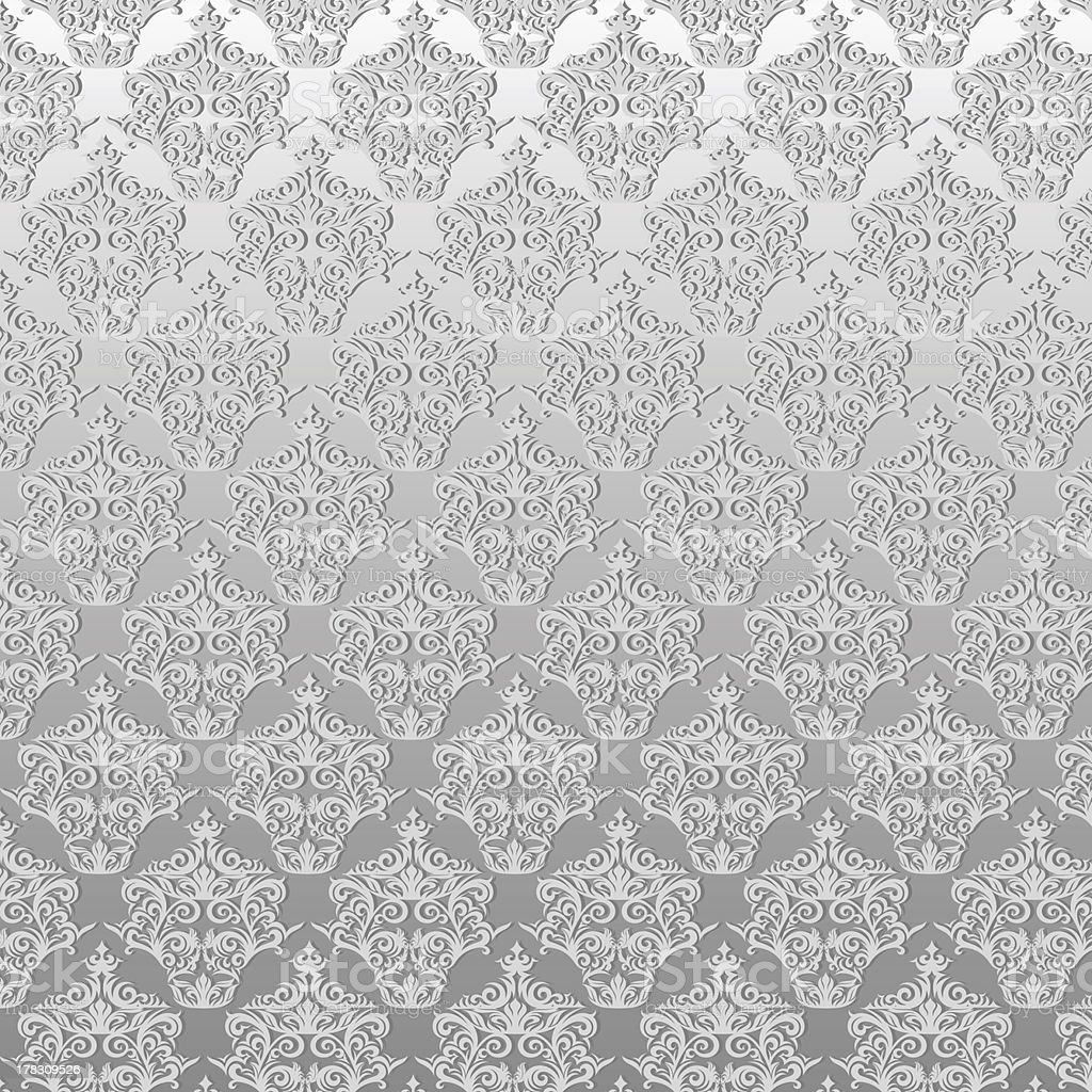 damask floral pattern wallpaper stock photo