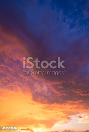 istock Damatic sunset sky 481333846