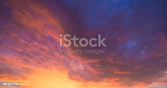 istock Damatic sunset sky 481822194