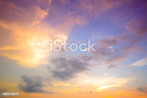istock Damatic sunset sky 495313876