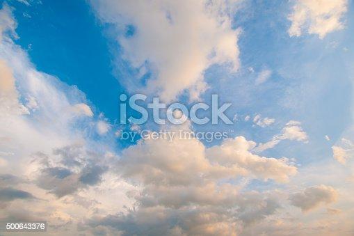 istock Damatic sunset sky 500643376