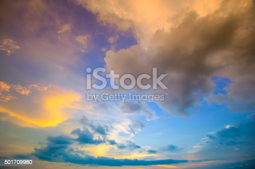 istock Damatic sunset sky 501709980