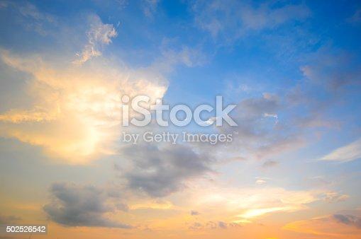 istock Damatic sunset sky 502526542