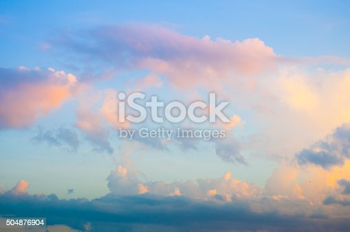 istock Damatic sunset sky 504876904