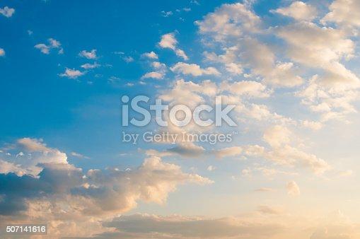 istock Damatic sunset sky 507141616