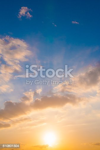 istock Damatic sunset sky 510801304