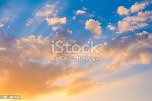 istock Damatic sunset sky 512165308