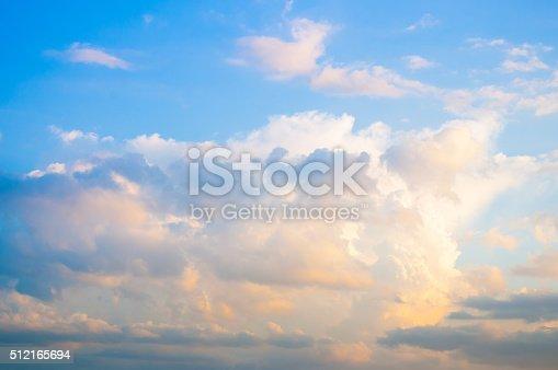 istock Damatic sunset sky 512165694