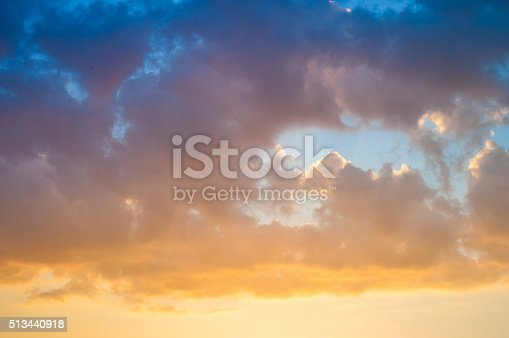 istock Damatic sunset sky 513440918