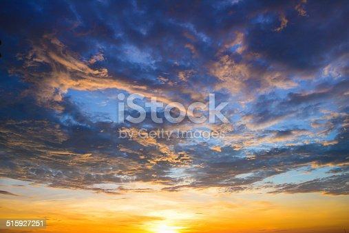 istock Damatic sunset sky 515927251