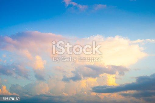 istock Damatic sunset sky 516178132