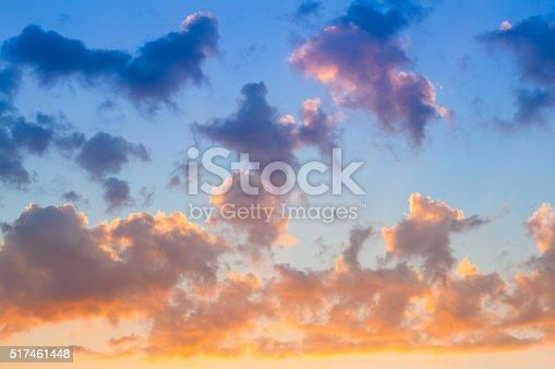 istock Damatic sunset sky 517461448