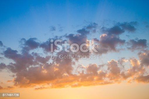 istock Damatic sunset sky 517461726
