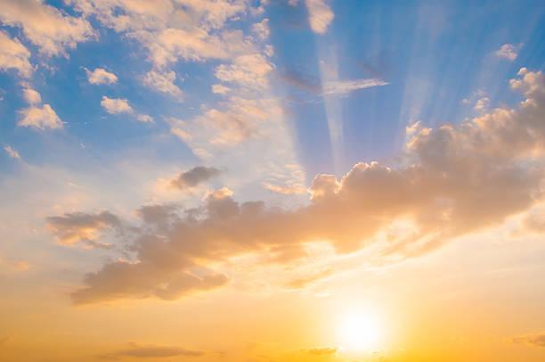 Damatic cielo al tramonto - foto stock