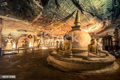 istock Dambulla ancient cave temple in Sri Lanka 482873088