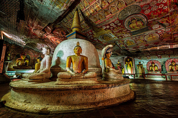 Dambulla Höhle temple-Buddha-Statuen, Sri Lanka – Foto