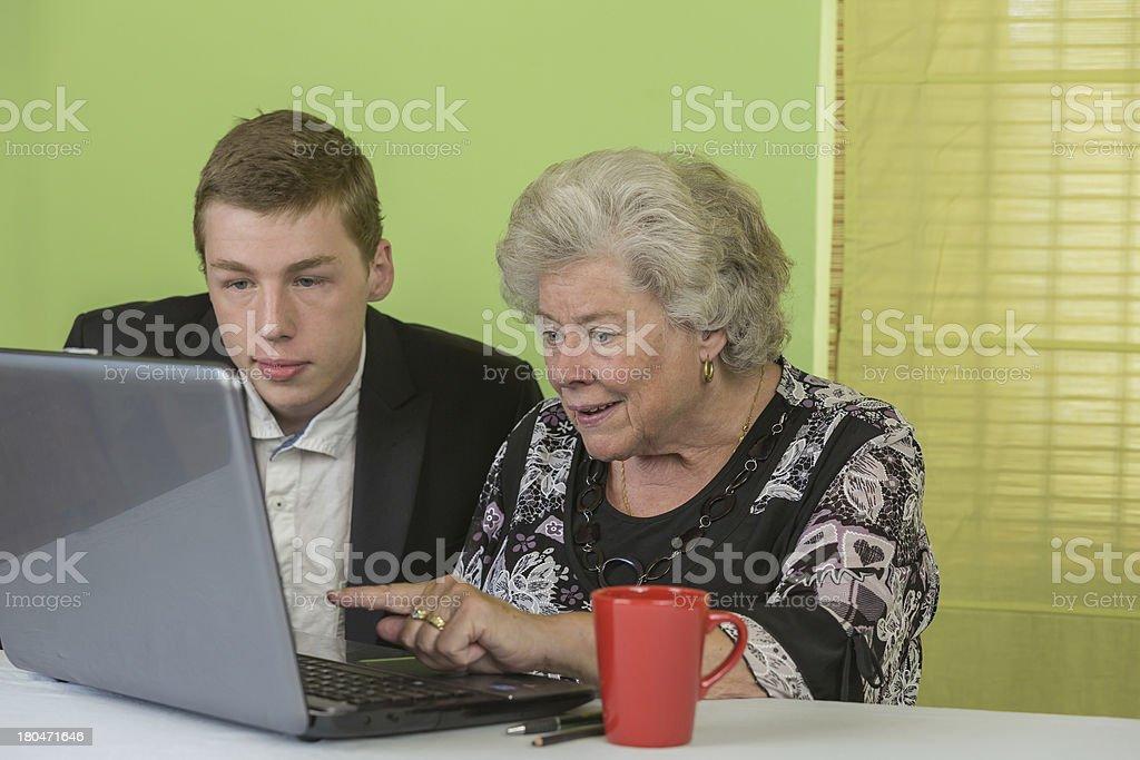 Dame laptop 4 stock photo
