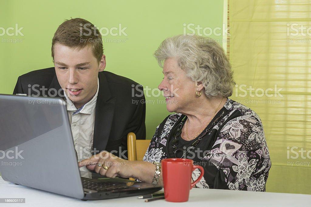 Dame laptop 5 stock photo