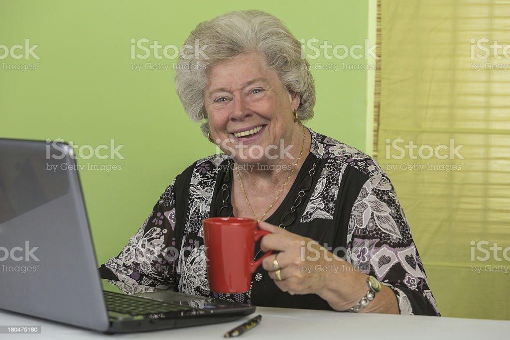 Dame laptop 6 stock photo