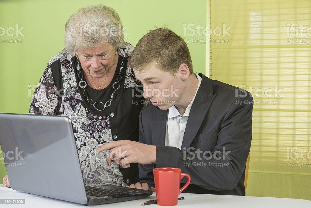 Dame laptop stock photo