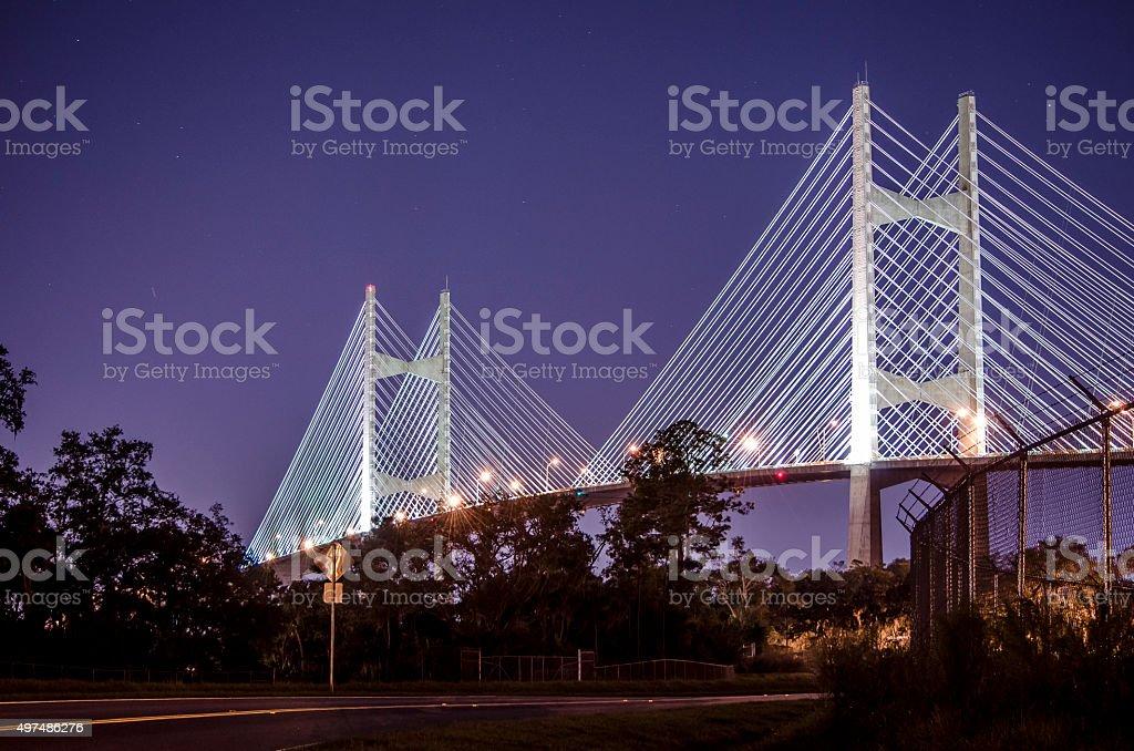 Dames Point Bridge stock photo