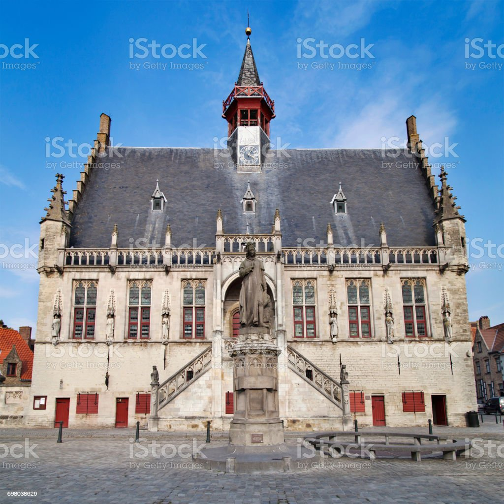 Damme Town Hall stock photo