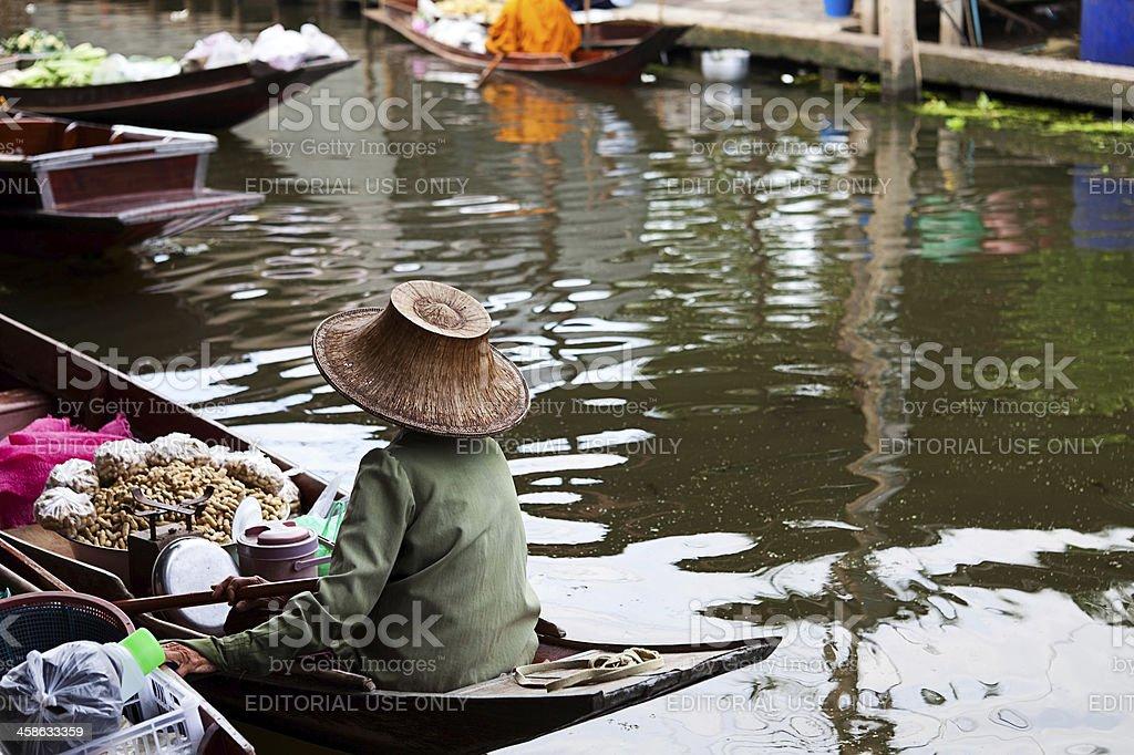 Damnoen Saduak Floating Market, Thailand royalty-free stock photo