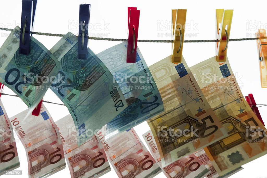 Damp money stock photo